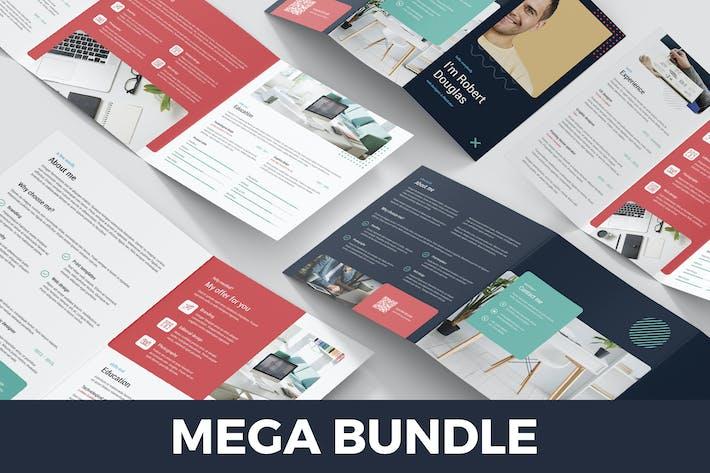 Resume – Brochures Bundle Print Templates 5 in 1