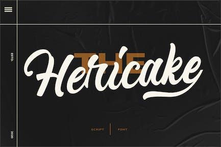 Hericake Logo Type Font