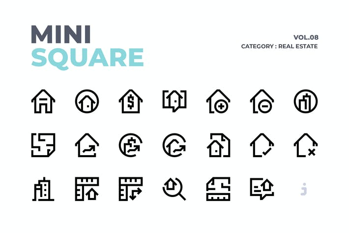 Thumbnail for Mini square - 60 Real Estate Icons