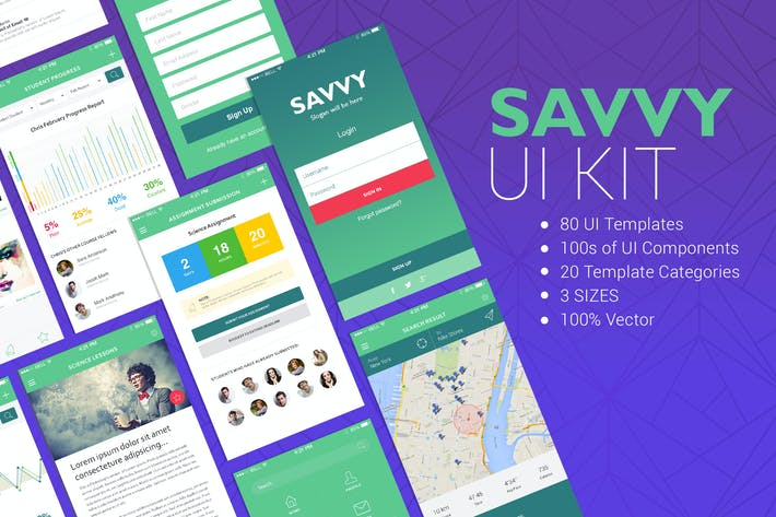 Thumbnail for Savvy UI Kit