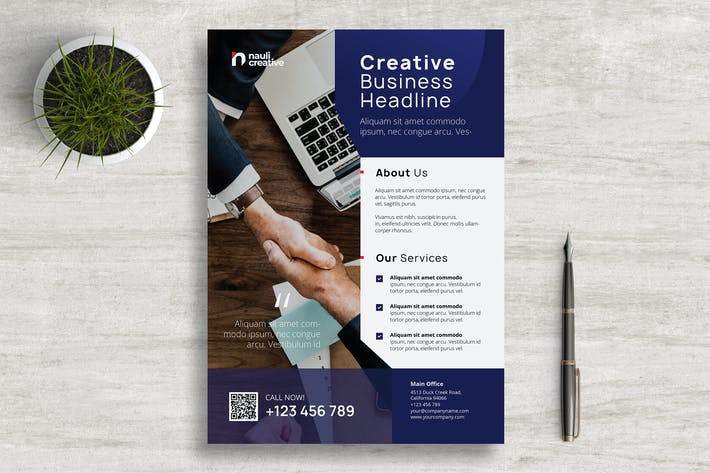 Thumbnail for Corporate Business Flyer PSD and Vector Vol.2