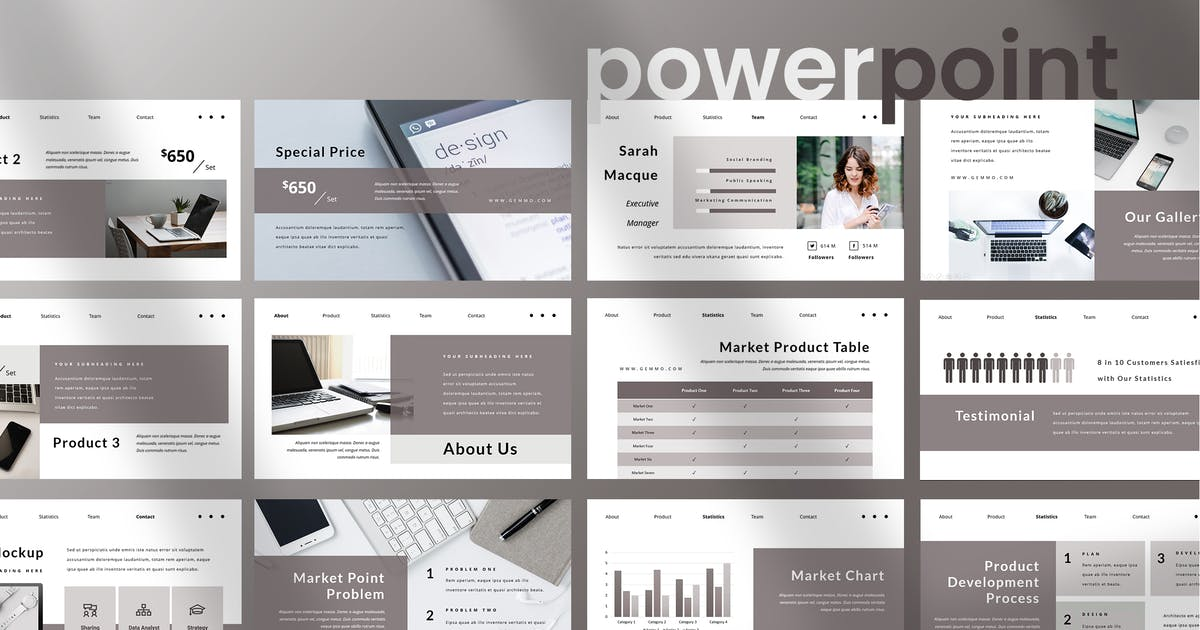 Download Gemmo - Business Powerpoint Presentation by TMint