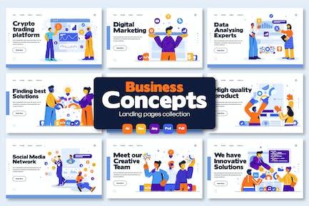 Ilustraciones de diapositivas de presentación