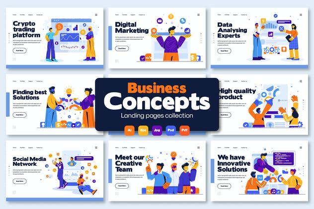 Presentation slides illustrations
