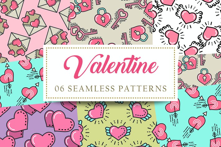 Thumbnail for Valentine Seamless Patterns
