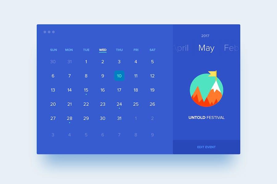 Flat Calendar View