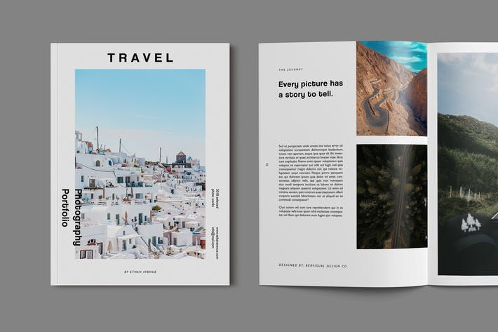 Travel Photography Brochure Template