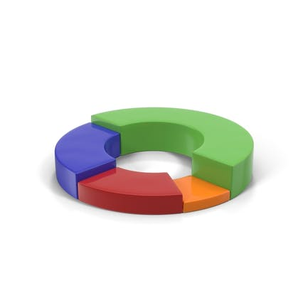 Multicolored Stacked Donut Chart