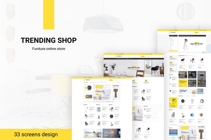 Thumbnail for Trending Shop - Furniture PSD Template