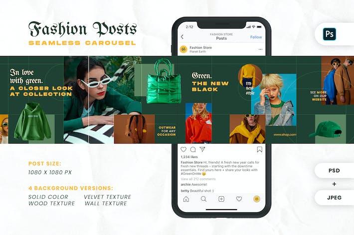 Thumbnail for Fashion Green Instagram Carousel