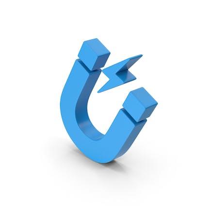Symbol Magnet Blau