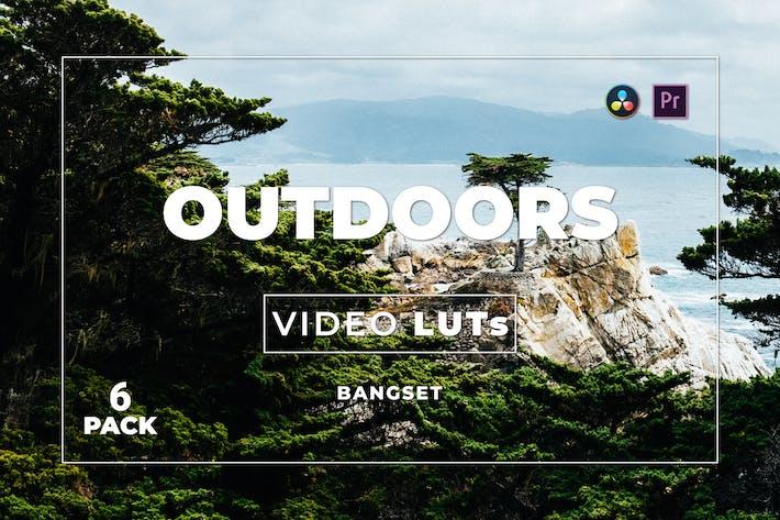 Набор бангсет на открытом воздухе 6 видео LUTs