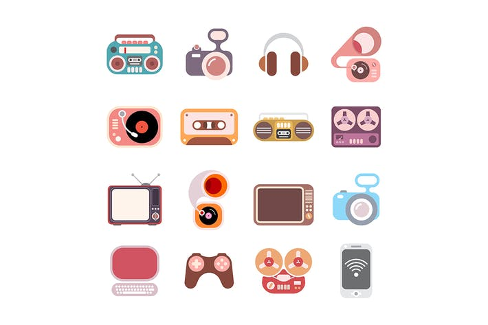 Thumbnail for Electronic icon set