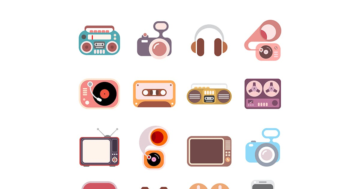 Download Electronic icon set by danjazzia