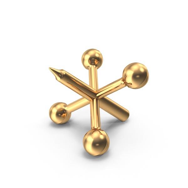 Gold Metal Jack Piece