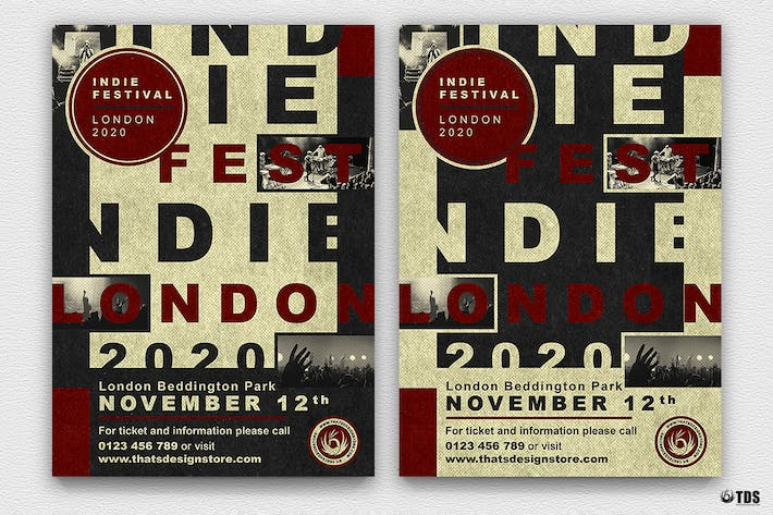 Thumbnail for Indie Live Festival Flyer Template V3
