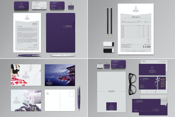 Thumbnail for Deeprock Stationery Set & Invoice