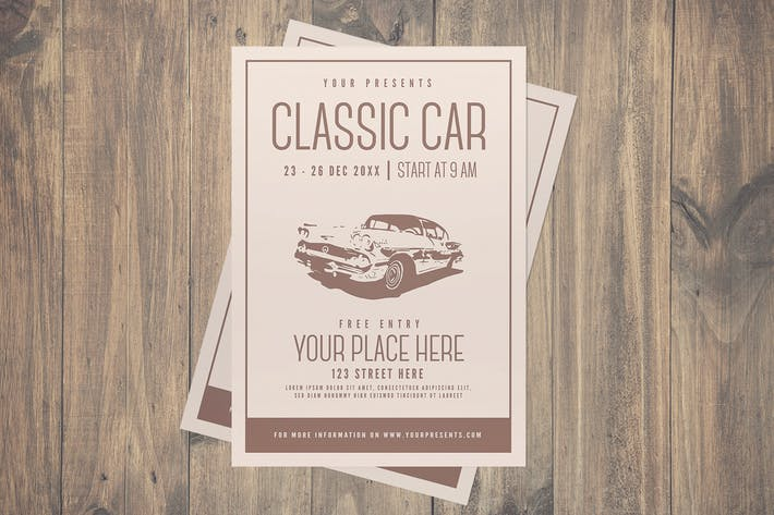 Thumbnail for Classic Car Flyer