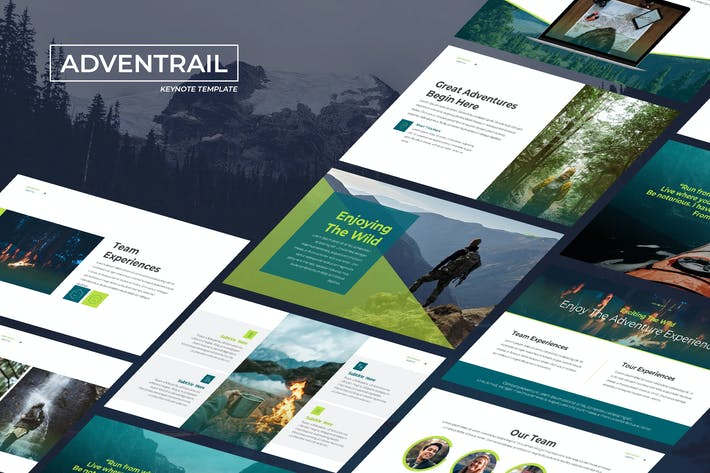 Thumbnail for Adventrail - Travel Business Keynote Template