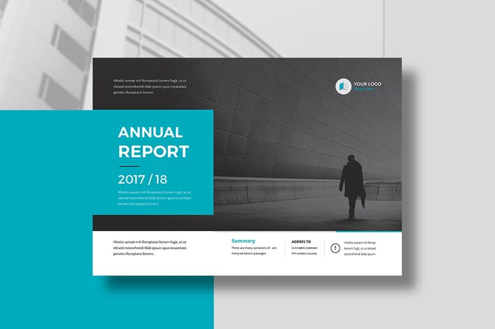 Thumbnail for Annual Report Landscape A4 & A5