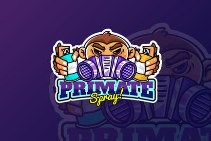 primate spray - Mascot & Esport Logo