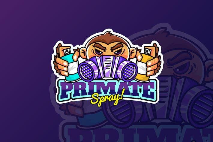 Thumbnail for Primate-Spray - Maskottchen & Esport Logo