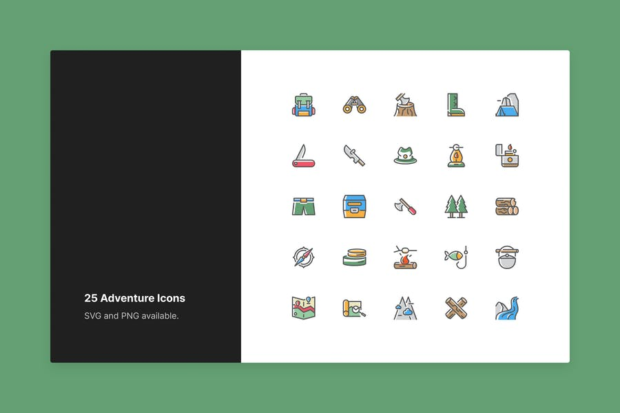 Adventure Icons - Color Style