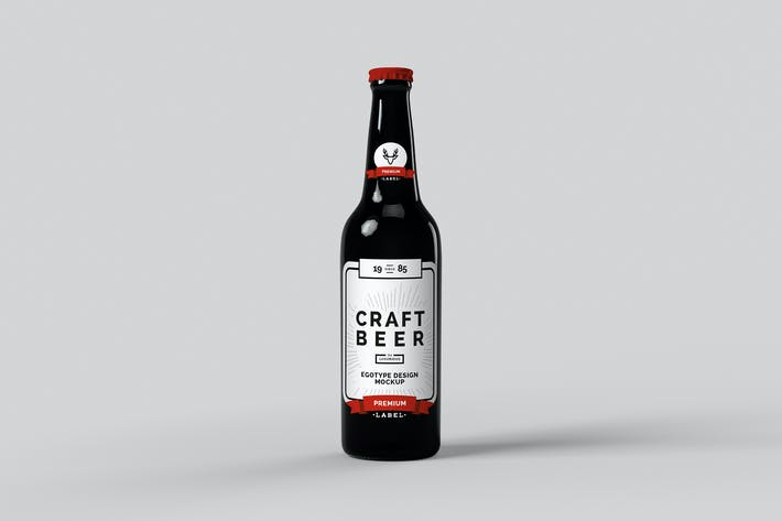 Thumbnail for Beer Mock-up glossy Black