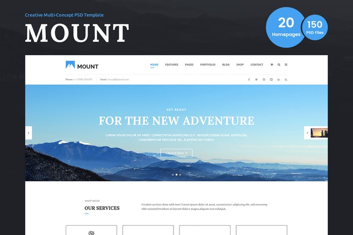 Thumbnail for Mount – Multi-purpose Business PSD Template