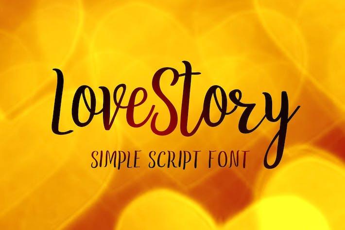 Thumbnail for LoveStory - gentle script font