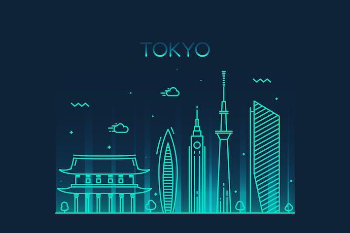 Thumbnail for Tokyo skyline, Japan