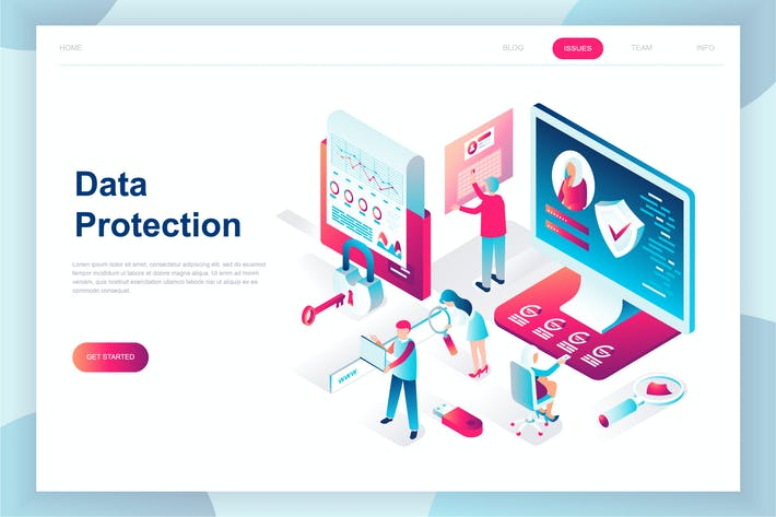 Thumbnail for Data Protection Isometric Landing Page