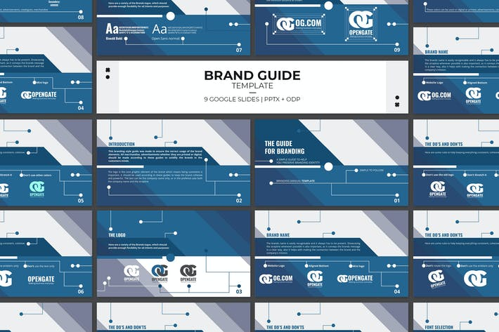 Cover Image For Google Slides Brand Guidelines Template