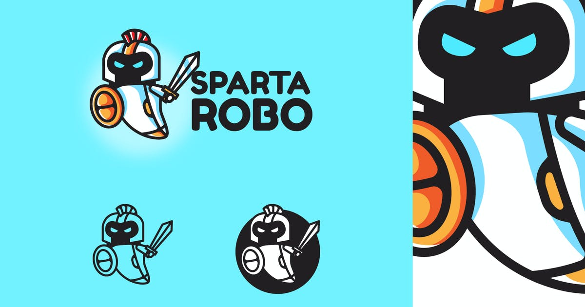 Download Sparta Robo - Mascot & Esport Logo by aqrstudio