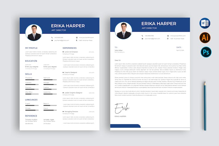Thumbnail for Resume CV Business for Microsoft Word