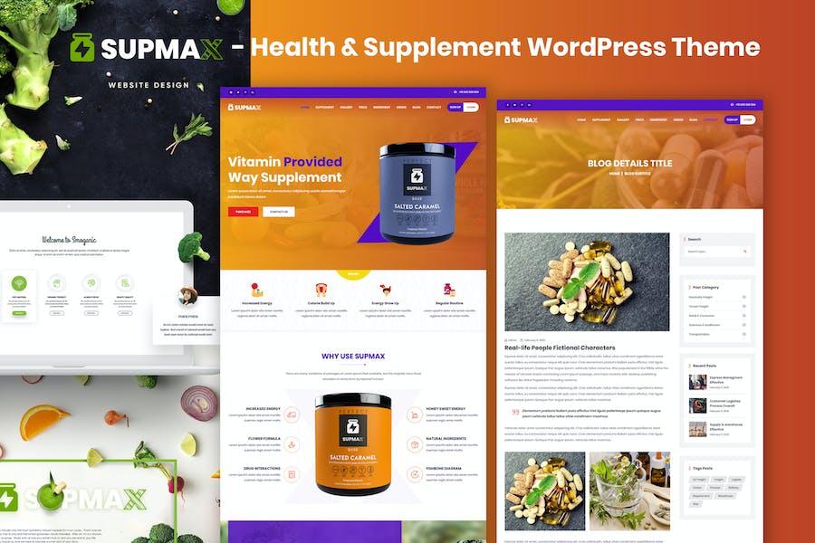 Supmax - Health & Supplement Elementor WordPress