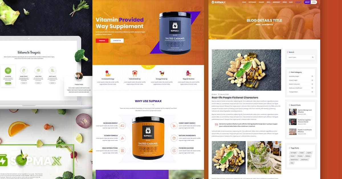 Download Supmax - Health & Supplement Elementor WordPress by shtheme