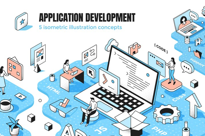 Thumbnail for 5 Application Development Isometric Concepts