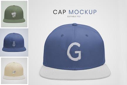 Cute cap mockup design