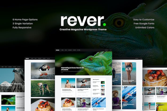 Thumbnail for Rever - Clean and Simple WordPress Theme