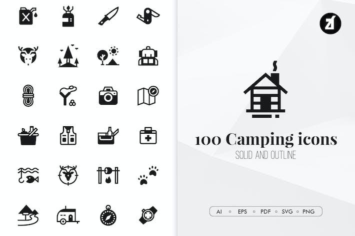 Thumbnail for 100 Icones de camping minimum