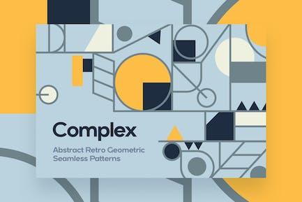 Retro Geometric Ornament Seamless Patterns