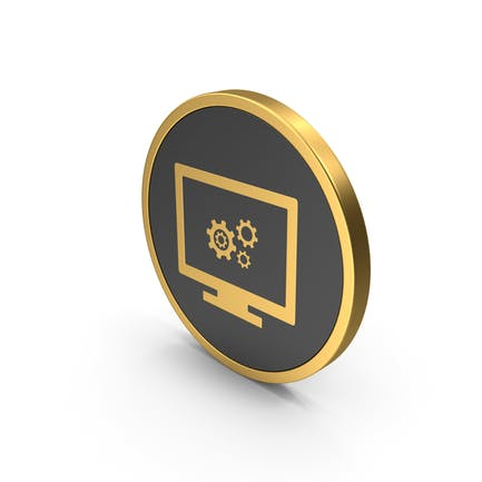 Gold Settings Icon