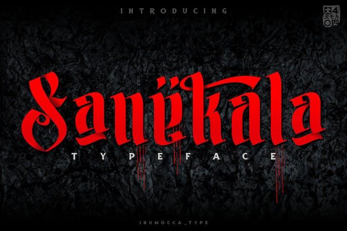 Thumbnail for Sanekala Typeface