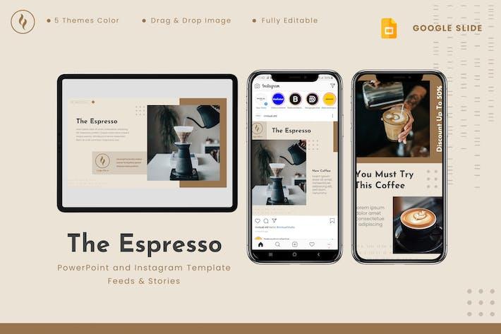 The Espresso - Google Slides & Instagram Template