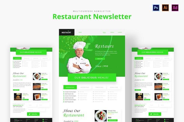 Thumbnail for Restaurant Newsletter