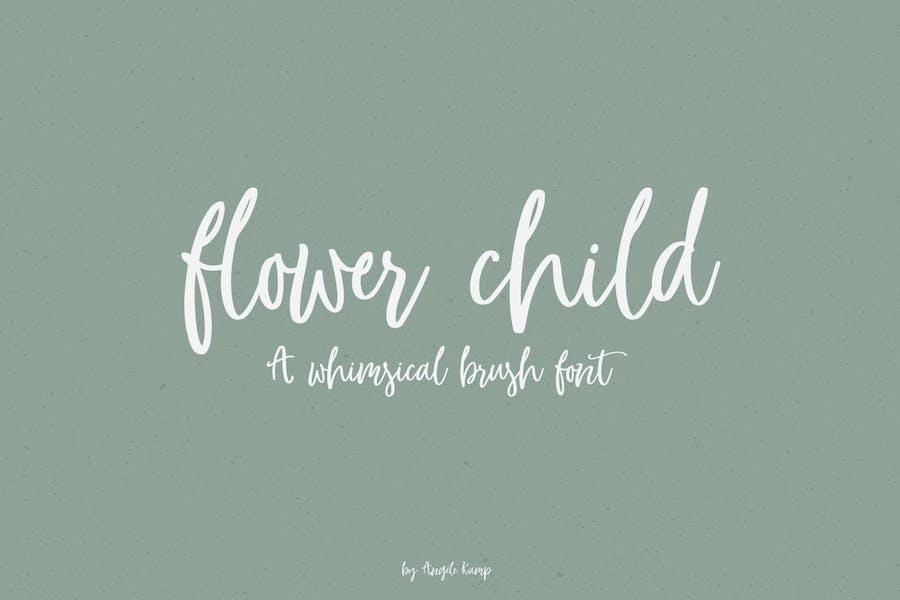 Whimsical brush font, Flower Child