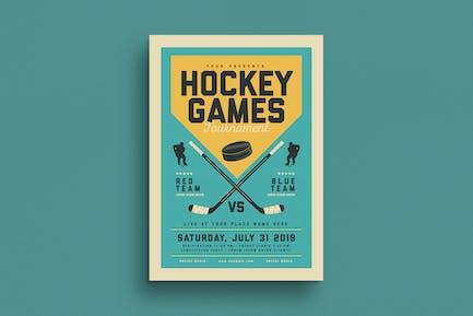 Vintage Hockey Game Flyer