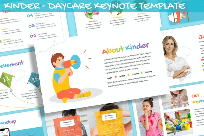 Thumbnail for Kinder - Daycare Keynote Template