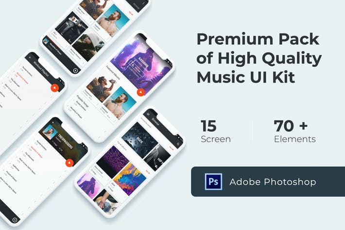 Thumbnail for Music Multimedia UI KIT for Photoshop